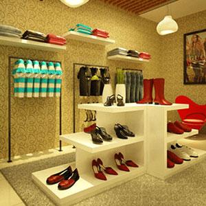 Giấy dán tường Shop thời trang