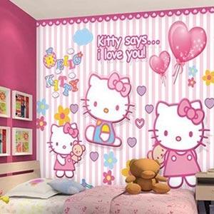 Giấy dán tường phòng bé gái