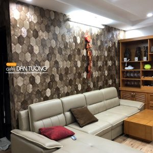 Giấy dán tường trang trí phòng khách Mida 7013-3